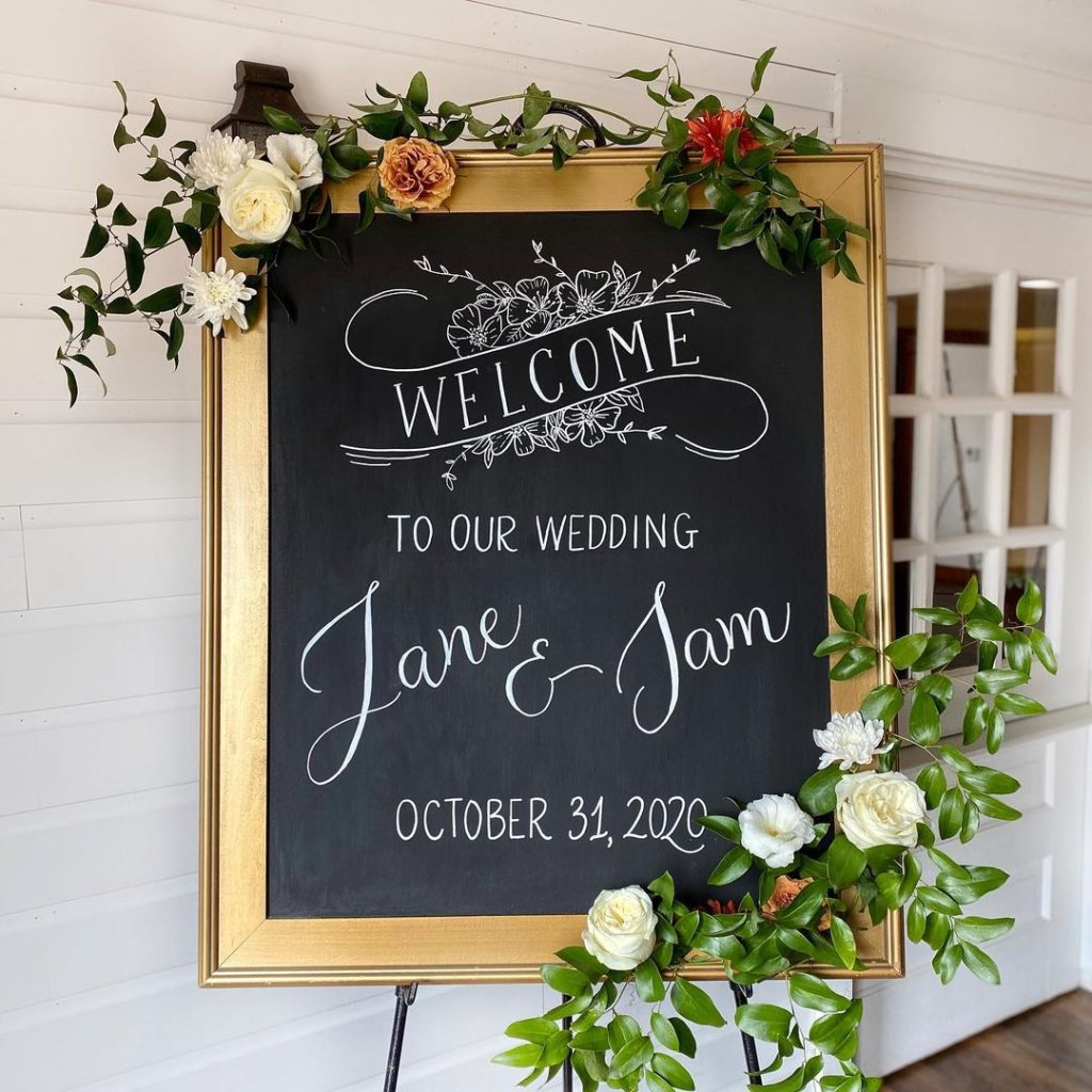wedding chalkboard for less wedding decor budget