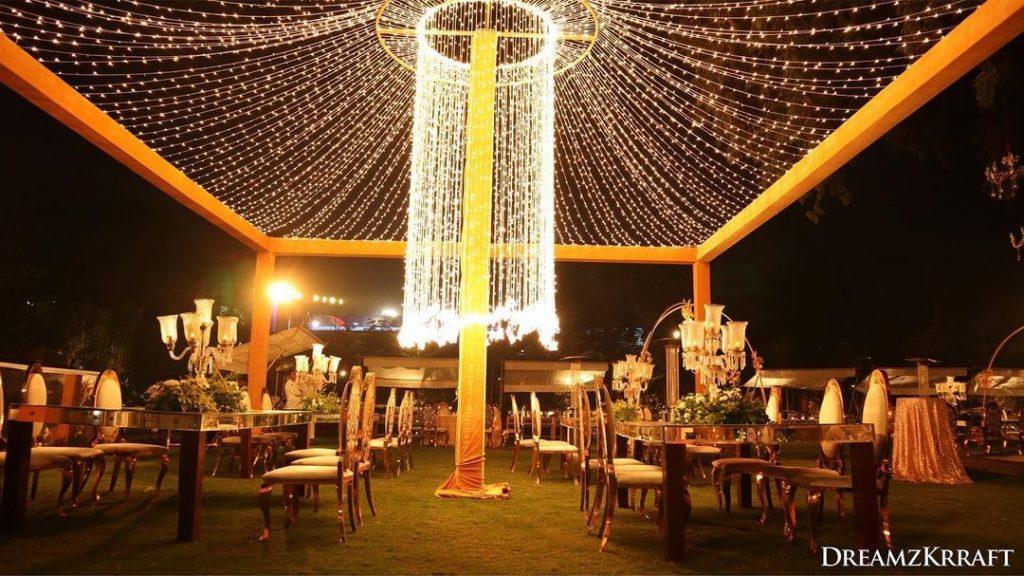 fairy light decor for less wedding decor budget