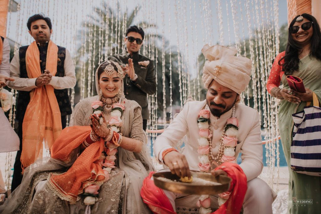 Indian bride & groom wedding photo