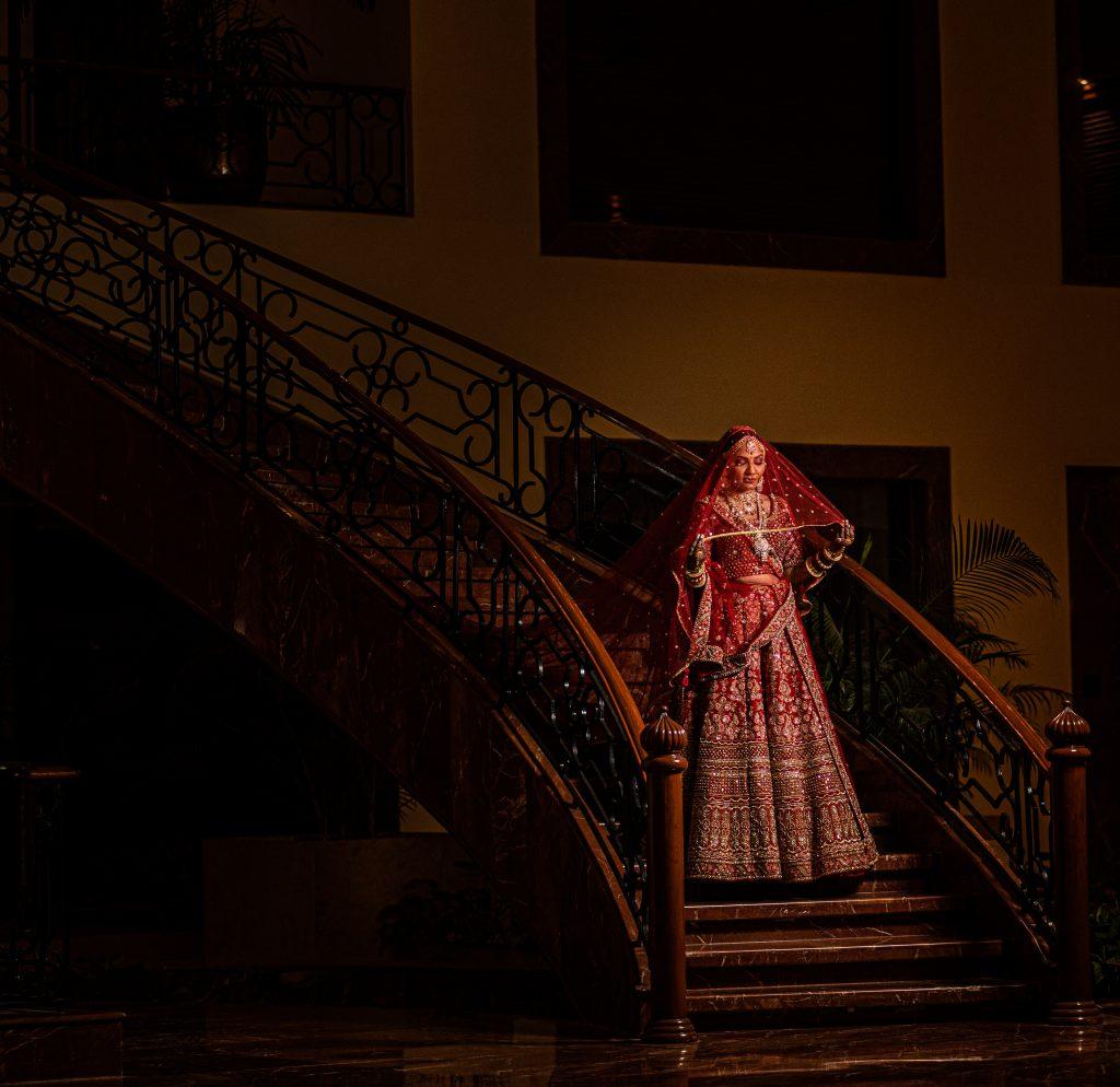 Sabyasachi bride in red lehenga