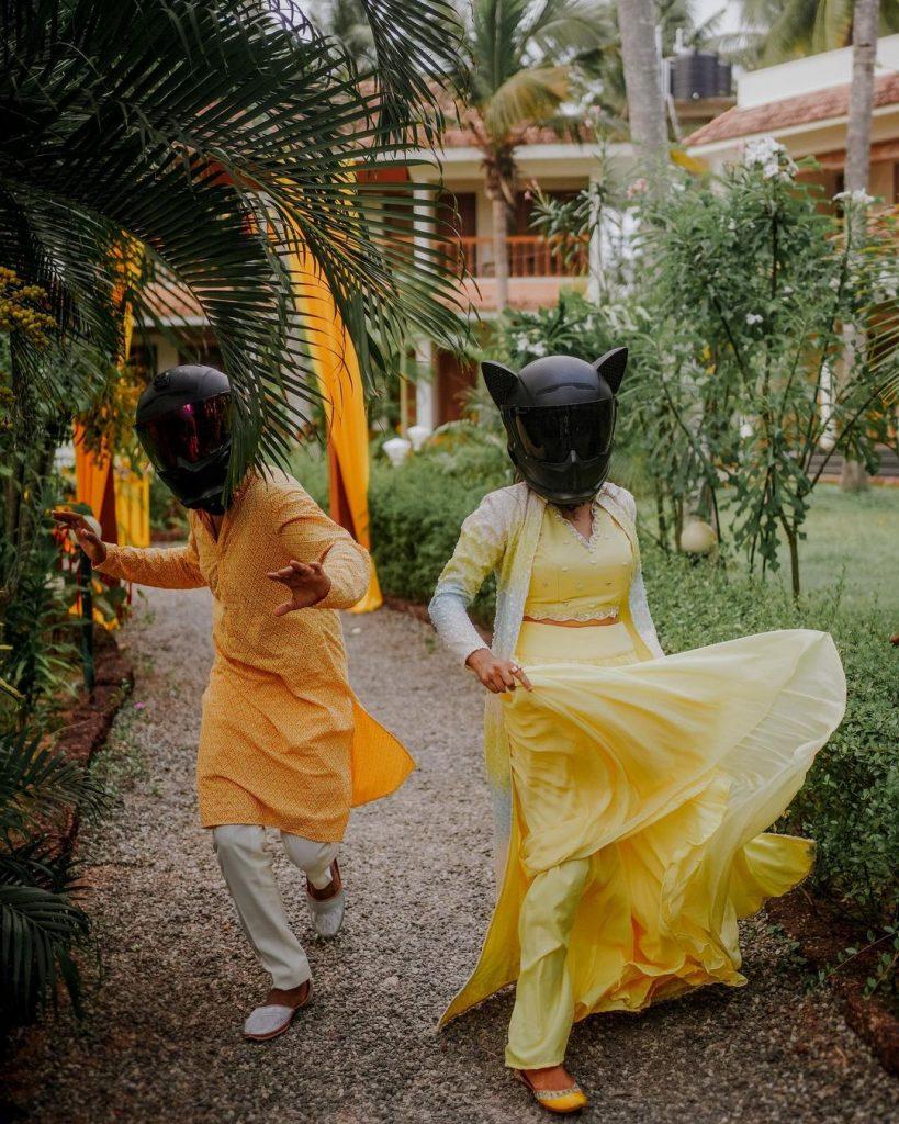 mysterious couple wedding