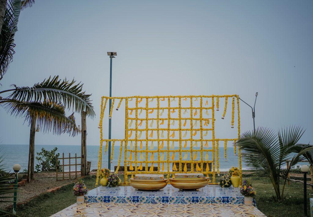 Outside Haldi decoration