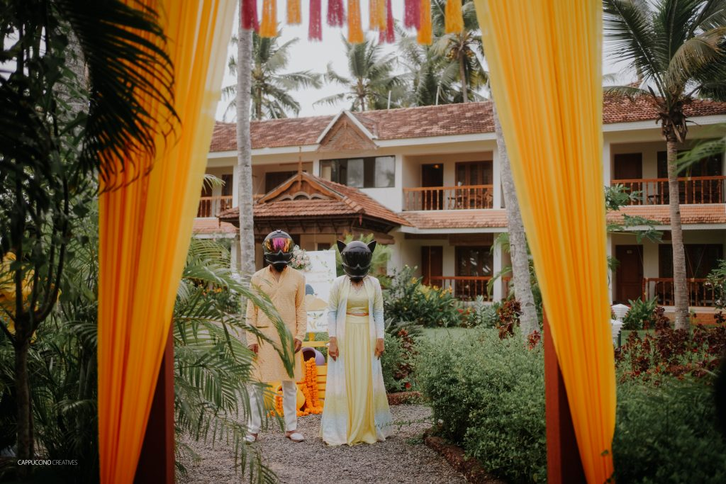 South Indian Couple Entry for Haldi