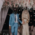 mysterious couple revealed their identity on their wedding day