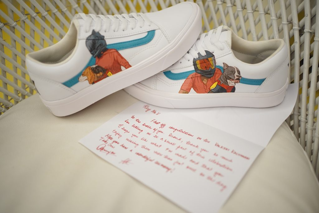 customized groom shoes