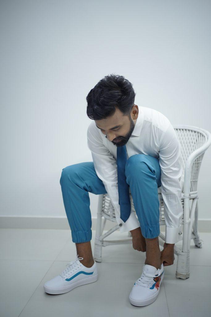 Telugu groom- groom getting ready shot