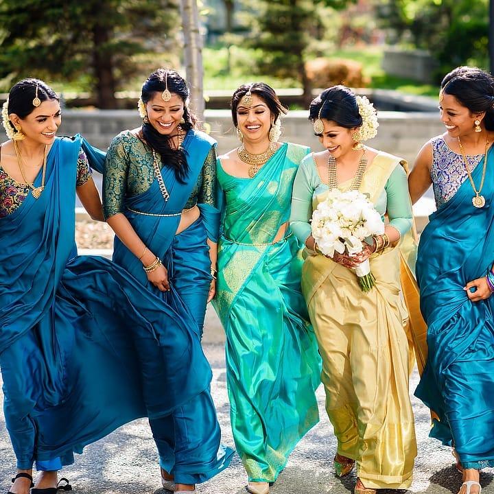 south indian bridesmaids photoshoot