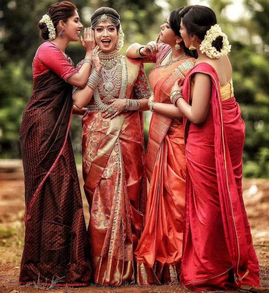 South Indian Bridesmaids Photoshoot Ideas