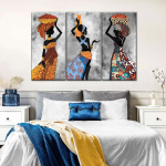 African Women's Fashion Canvas Set Wall Art