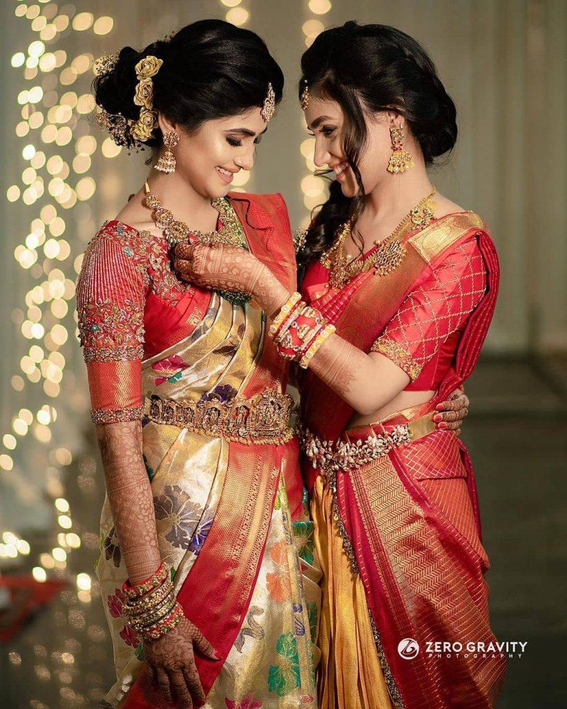 South Indian bride & bridesmaid