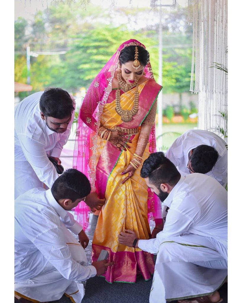 South Indian Bride With Brothers