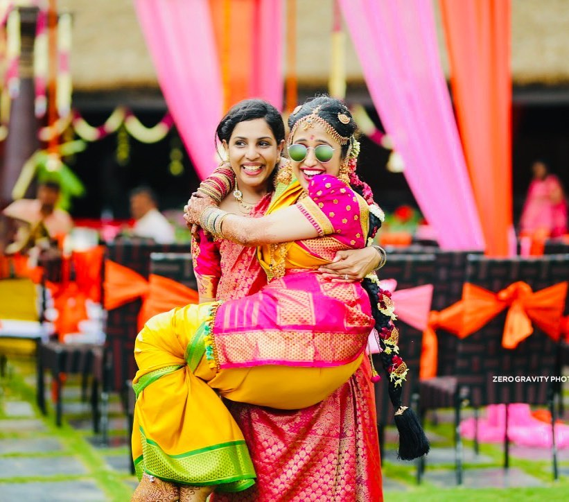 funny south indian bride & bridesmaid shoot