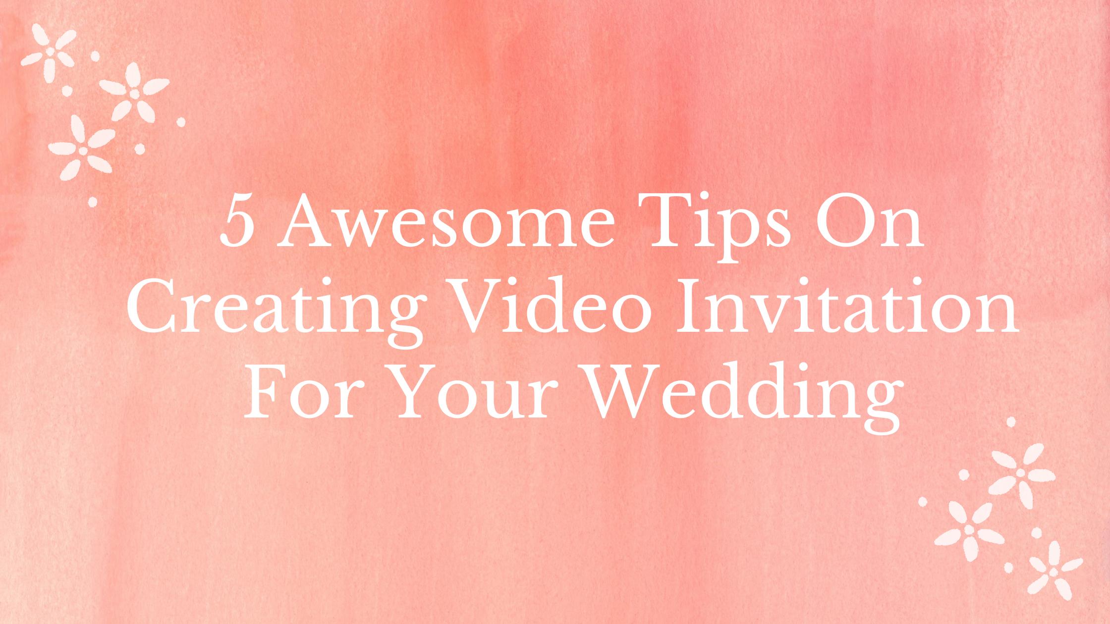 Create wedding video invitation online